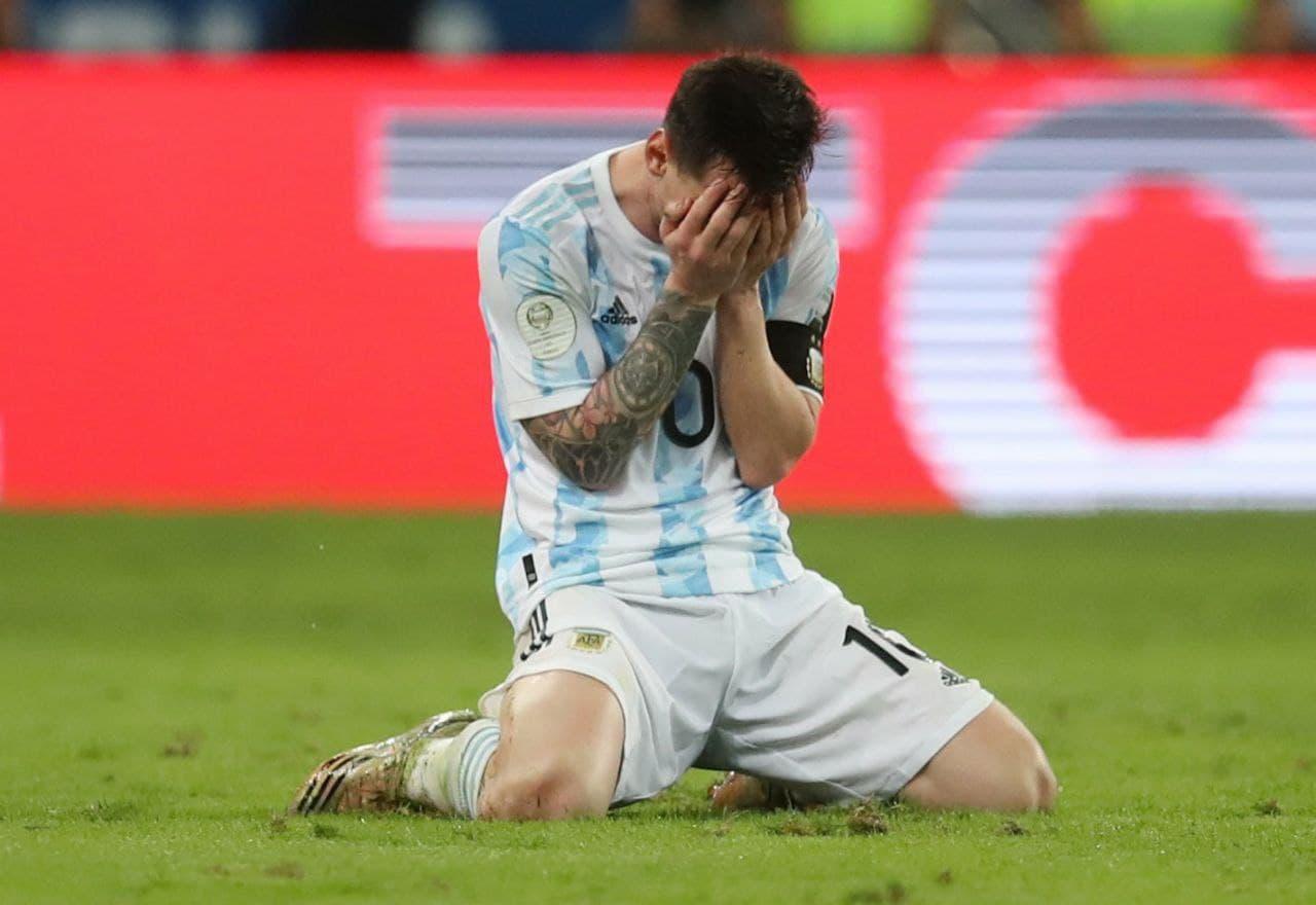 اشک شوق لیونل مسی پس از قهرمانی با آرژانتین در کوپا آمریکا