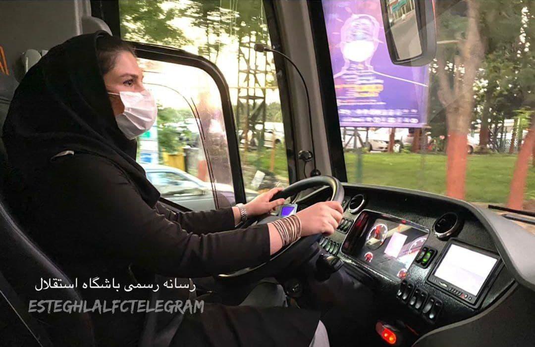 خانم راننده اتوبوس استقلال