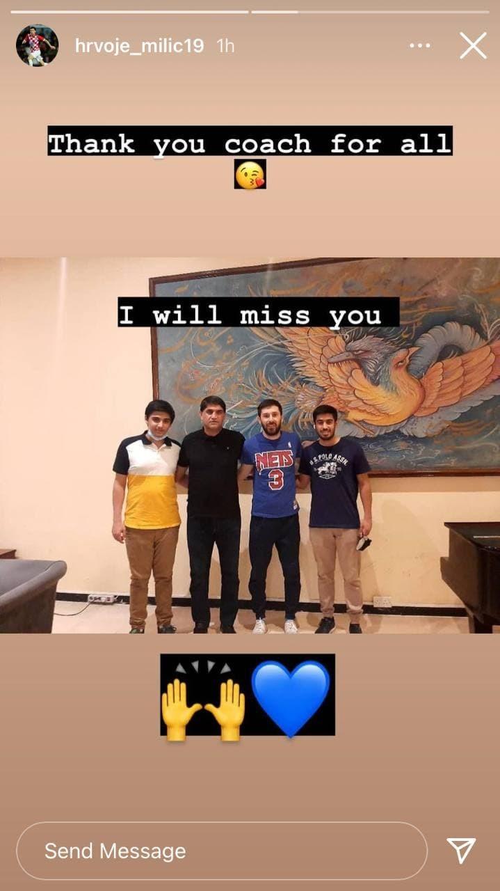 خداحافظی میلیچ با استقلال و ترک ایران