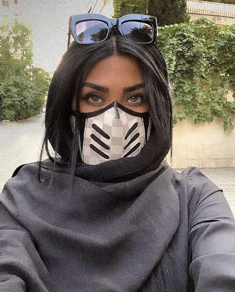 مریم معصومی با ماسک فانتزی