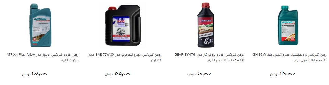 قیمت روغن گیربکس در بازار