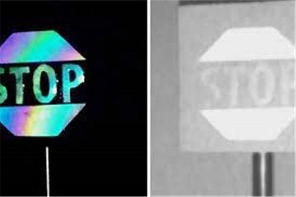 تغییر رنگ علائم جاده ای مخصوص خودروهای خودران + عکس