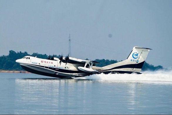 بزرگترین هواپیمای آبی - خاکی جهان + ویدئو