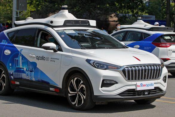 تاکسی های خودران در خیابان های چین   عکس