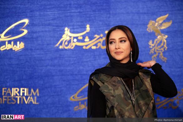 بهاره افشاری با تیپ کماندویی در جشنواره فیلم فجر! عکس