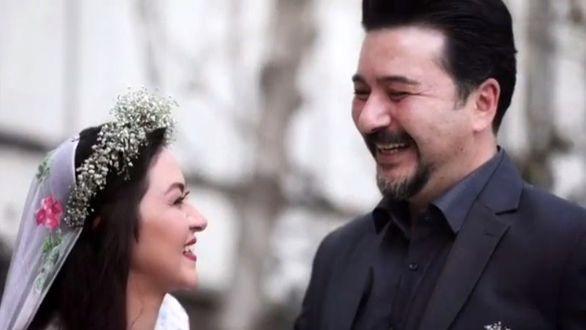 امیرحسین صدیق به همراه همسر هنرمندش / عکس