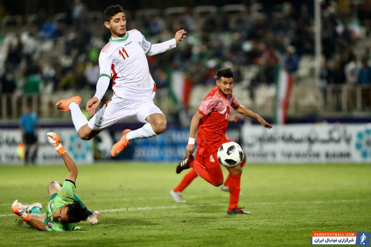 برزگر ؛ تصاویری از درخشش برزگر در دیدار جوانان ایران برابر نپال
