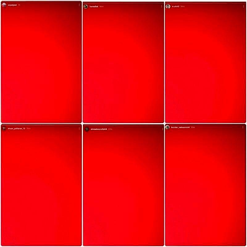 آژیر قرمز در ارودگاه پرسپولیس با استوریهای سرخ