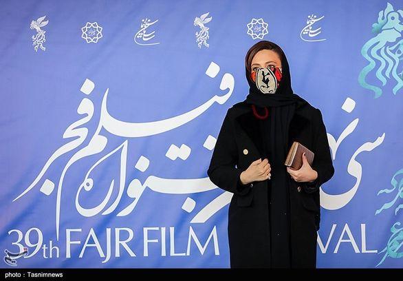 گلاره عباسی و تیپ جالبش در جشنواره فیلم فجر + عکس