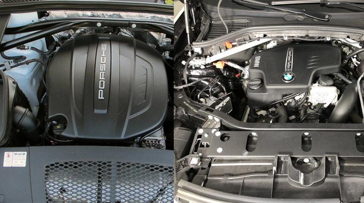 مقایسه موتور پورشه ماکان و بی ام و x4