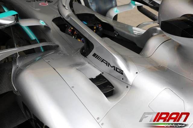 جزئیات قسمت جانبی خودروی W10 مرسدس