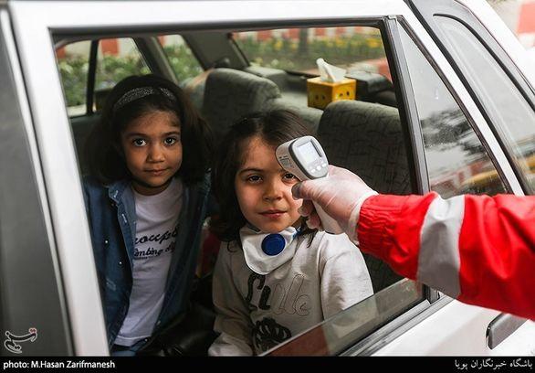 تب سنجی نفر به نفر مسافران در ورودی و خروجی تهران (عکس)