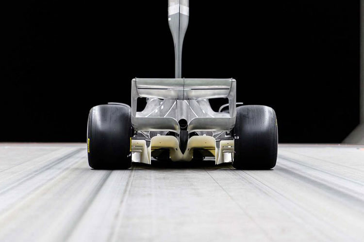 Formula 1 2021 wind tunnel