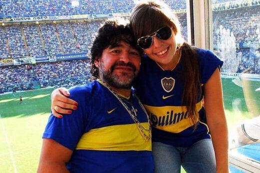 دختر مارادونا سوگوار پدر + عکس