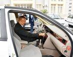 رئیس جمهوری آذربایجان پشت فرمان خودرو ایرانی خزر + عکس