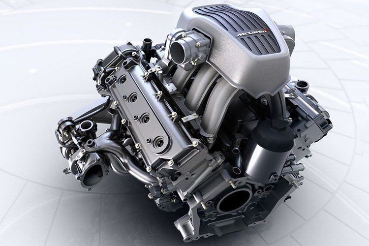 mclaren M838T engine v8