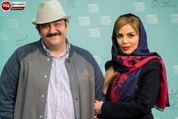 عکس جالب همسر و فرزند مهران غفوریان