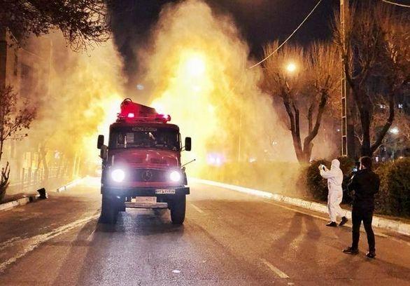 خودروی غول آسای شهرداری تهران مخصوص مقابله با ویروس کرونا (تصاویر)