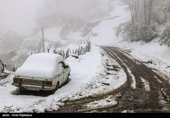 آخرین وضعیت بارش برف و باران در جاده های کشور