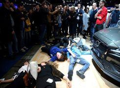 نمایشگاه خودرو بروکسل به آشوب کشیده شد